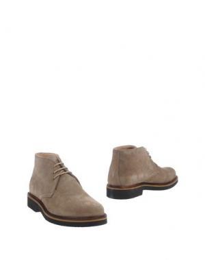 Полусапоги и высокие ботинки EXTON. Цвет: песочный