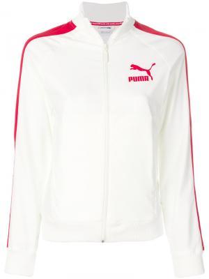 Спортивная куртка с логотипом Puma. Цвет: телесный