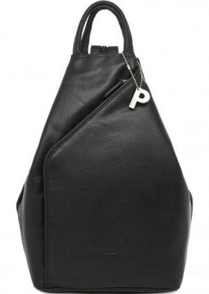 Черный кожаный рюкзак Picard. Цвет: черный