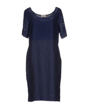 Платье до колена CLUB VOLTAIRE. Цвет: темно-синий