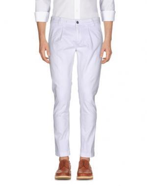 Повседневные брюки TELERIA ZED. Цвет: белый