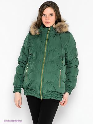 Куртка EUROMAMA. Цвет: зеленый