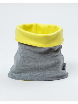 Снуд BODO. Цвет: светло-серый, светло-желтый