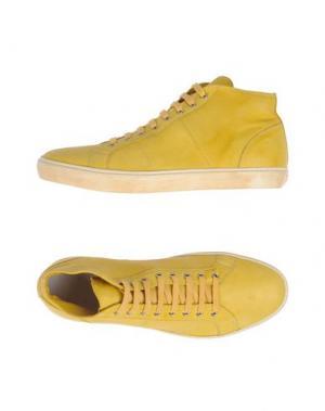 Высокие кеды и кроссовки PANTOFOLA D'ORO. Цвет: желтый