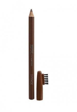 Карандаш для бровей Divage. Цвет: коричневый