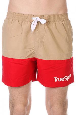 Шорты пляжные  Swimming Shorts Splash Two Beige/Red TrueSpin. Цвет: бежевый,красный