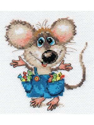 Набор для вышивания Будет праздник!  12х13 см. Алиса. Цвет: светло-серый,синий,серый