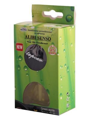 Ароматизатор в дефлектор Alibi Senso Зеленое яблоко AZARD. Цвет: черный