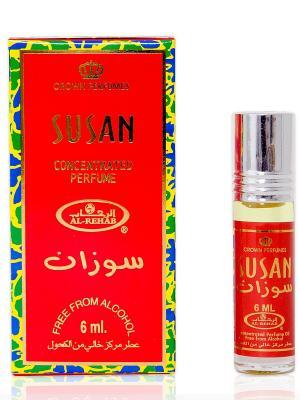 Арабские масляные духи Сюзанна (Susan), 6 мл Al Rehab. Цвет: красный