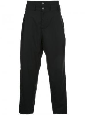 Классические брюки с завышенной талией Yoshiokubo. Цвет: синий