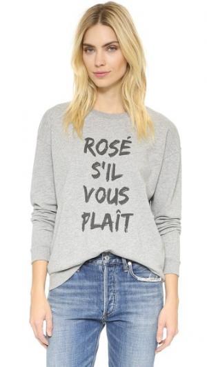 Толстовка Rose Sil Vous Plait South Parade. Цвет: серый меланж