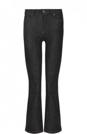 Укороченные расклешенные джинсы с контрастной прострочкой Victoria, Victoria Beckham. Цвет: черный