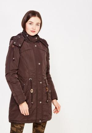 Куртка утепленная Usha. Цвет: коричневый