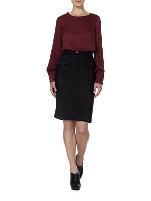 Платье APART. Цвет: черный, бордовый