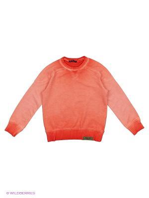 Свитер Sisley Young. Цвет: красный, коралловый, оранжевый