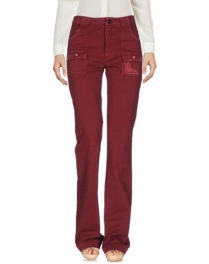 Повседневные брюки FAIRLY. Цвет: красно-коричневый