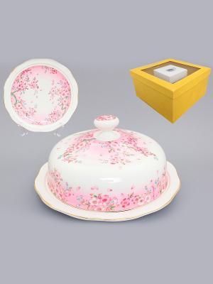 Блинница Сакура Elan Gallery. Цвет: розовый, белый