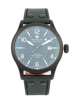 Часы Swiss Military. Цвет: зеленый