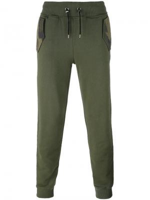 Спортивные брюки Hydrogen. Цвет: зелёный