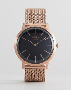 Henry London Золотисто-розовые часы. Цвет: золотой