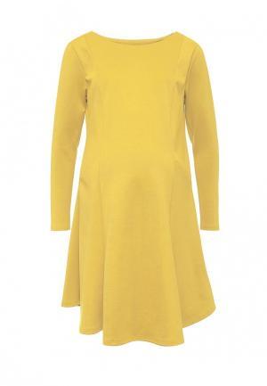 Платье week by. Цвет: желтый