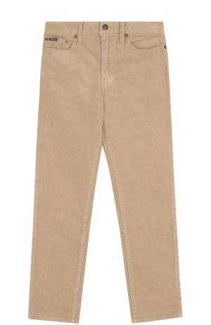 Вельветовые джинсы прямого кроя Polo Ralph Lauren. Цвет: бежевый