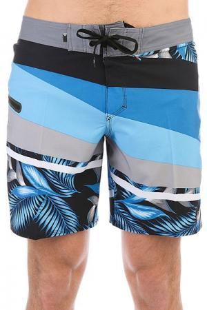 Шорты пляжные  Slashprintsve18 Black Quiksilver. Цвет: синий,серый,черный