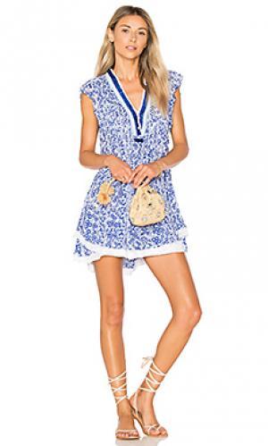 Мини платье sasha Poupette St Barth. Цвет: синий