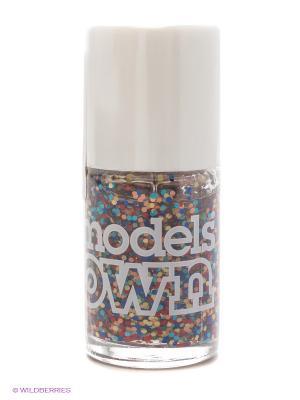 Лак для ногтей Nail Polish Microdots Models own. Цвет: голубой, оранжевый, синий