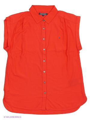 Блузка Tommy Hilfiger. Цвет: красный