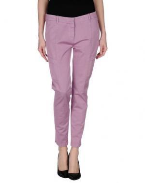 Повседневные брюки G.T.A. MANIFATTURA PANTALONI. Цвет: светло-фиолетовый