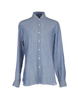 Pубашка BARBA NAPOLI. Цвет: темно-синий