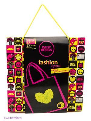Набор для декорирования сумочки Heart of flower Daisy Design. Цвет: черный