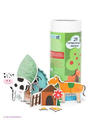Магнитная игра Мир домашних животных THE PURPLE COW. Цвет: зеленый, голубой
