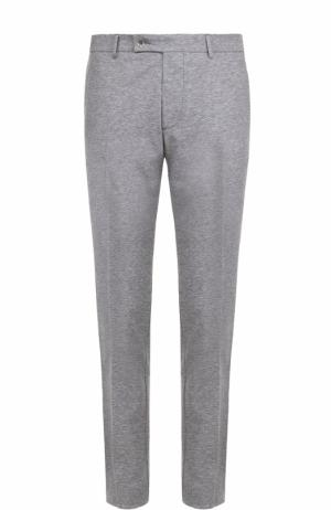 Хлопковые брюки прямого кроя Berwich. Цвет: серый