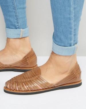 KG Kurt Geiger Светло-коричневые кожаные плетеные сандалии By. Цвет: рыжий
