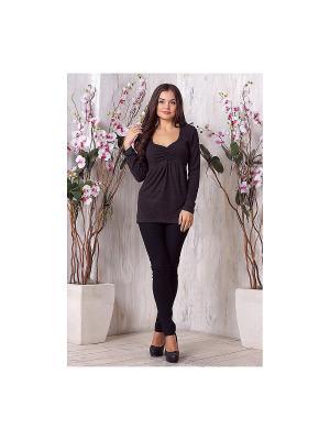 Блузка LIORA. Цвет: серый