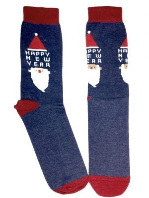 Носки махровые Big Bang Socks. Цвет: синий
