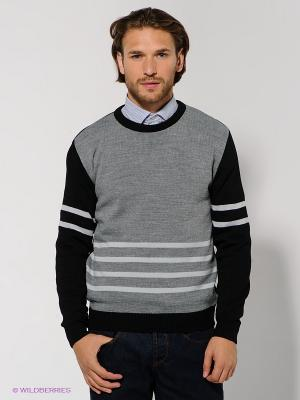 Джемпер Urban fashion for men. Цвет: черный, светло-серый