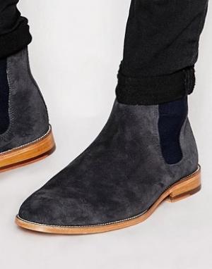 Bobbies Замшевые ботинки челси LHorloger. Цвет: серый