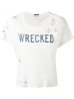 Футболка Wrecked Mother. Цвет: телесный