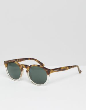 Mr Boho Солнцезащитные очки в черепаховой оправе с классическими стеклами B. Цвет: коричневый