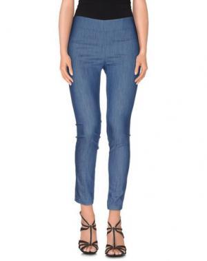 Джинсовые брюки ODIEUSES. Цвет: синий