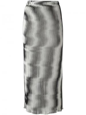 Плиссированная юбка с оптическим эффектом Issey Miyake Vintage. Цвет: чёрный