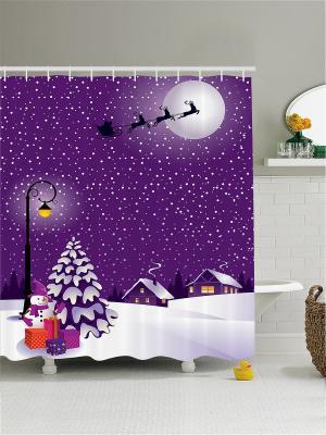 Штора для ванной Magic Lady. Цвет: индиго, белый, темно-фиолетовый