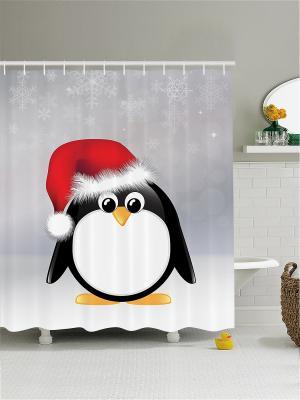 Штора для ванной Magic Lady. Цвет: черный, белый, красный
