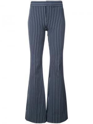 Расклешенные полосатые брюки Derek Lam 10 Crosby. Цвет: синий