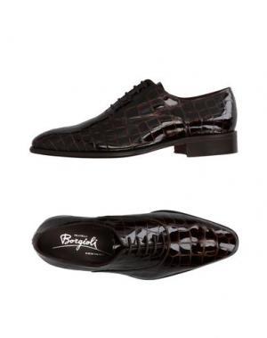 Обувь на шнурках BORGIOLI. Цвет: темно-коричневый
