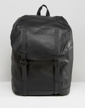Spiral Черный рюкзак из искусственной кожи Hampton. Цвет: черный