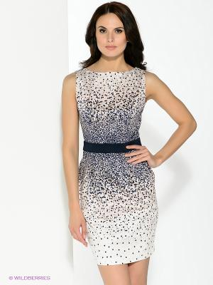 Платье Pompa. Цвет: лиловый, темно-синий